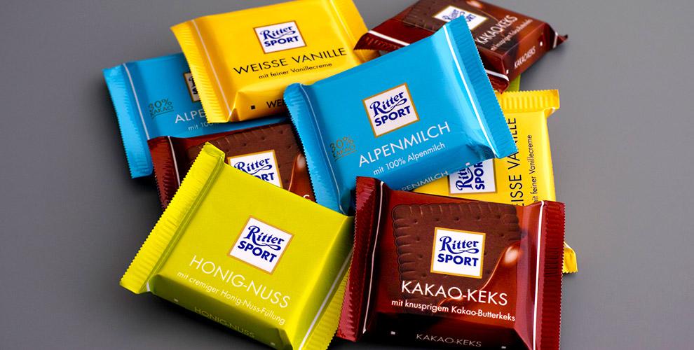 Шоколад RITTER SPORT, чай и сертификаты 4500 руб. на элос-эпиляцию от салона Elos-club