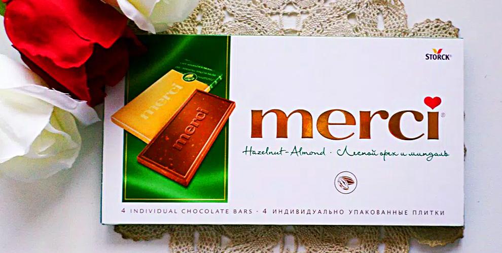 Конфеты Merci, набор Le Petit Marseillais и сертификаты 6000 руб. в салон KriSne