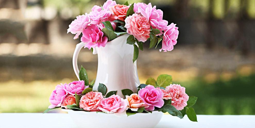 Напольная ваза 1500 руб. и сертификаты 4500 руб. в интернет-магазин ML Flowers
