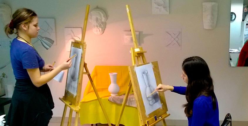 """Абонемент стоимостью 18 000 руб. на занятия (взрослый + ребенок) в течение 3 месяцев  в художественной школе """"Ракурс"""""""