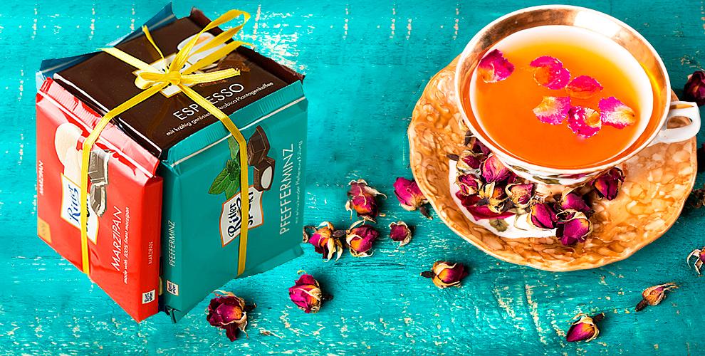 Шоколад RITTER SPORT + чай + сертификаты 4500 руб. на элос-эпиляцию от салона Elos-club
