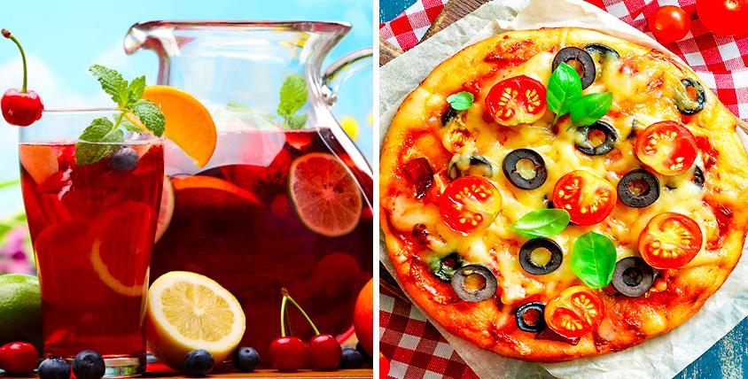 """3 литра морса + 5 фирменных пицц от компании """"Трапеза 96"""""""