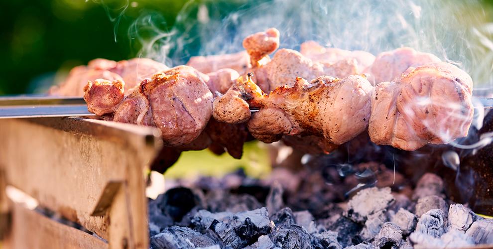 """Мангал, уголь, шампуры, жидкость для розжига от базы отдыха """"Добрый лось"""""""