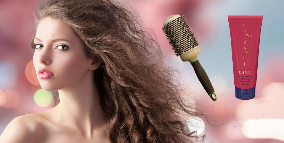Маска Estel и щетка-брашинг для укладки волос от парикмахерской GoodLooks