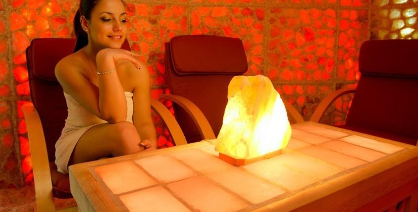 """Соляной светильник + сертификат на посещение соляной пещеры """"Морской бриз"""""""