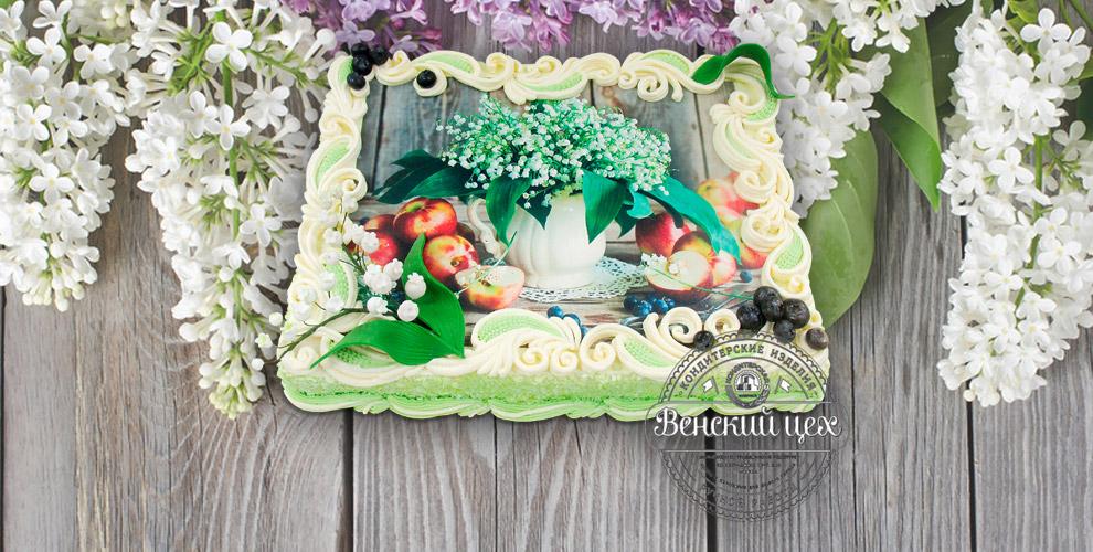 """Торты с фото 4350 руб. и набор пирожных 966 руб. от Венского Цеха Фабрики """"Большевик"""""""