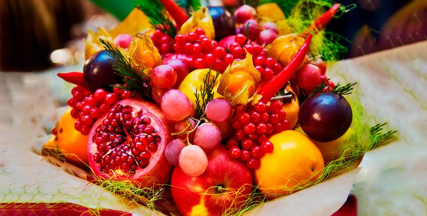 """Овощной или фруктовый букет 1550 руб. от мастерской """"Марусины Букеты"""""""