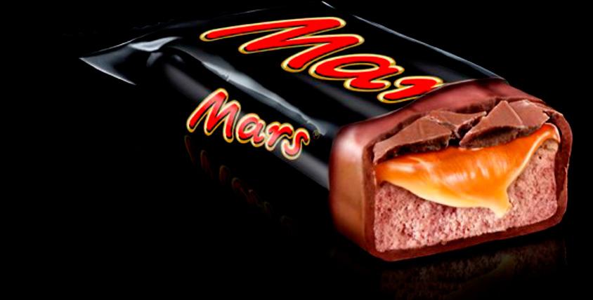 "Коробка шоколадных батончиков Mars от компании ""Автотур"""