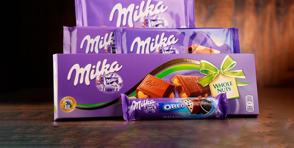 """Шоколад Milka с орехами (1 кг) от компании """"Каменная фактура"""""""