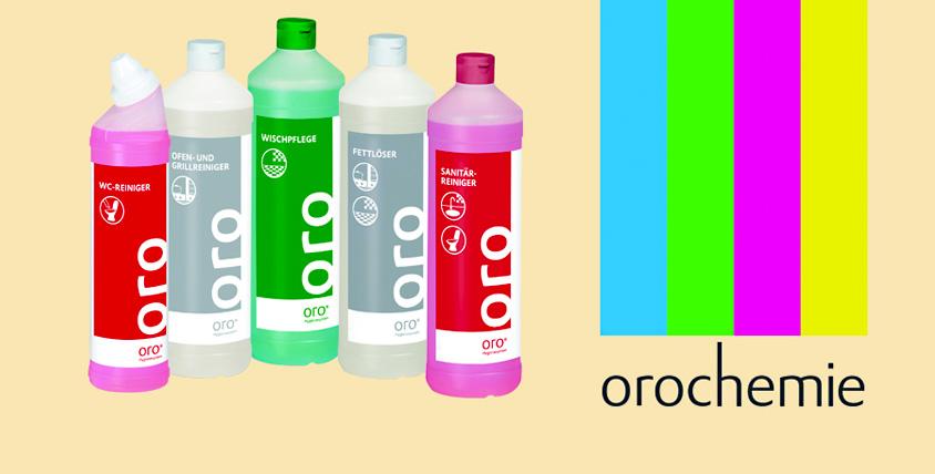 Набор профессиональной бытовой химии для уборки стоимостью 2800 руб. от компании Orochemie.ru
