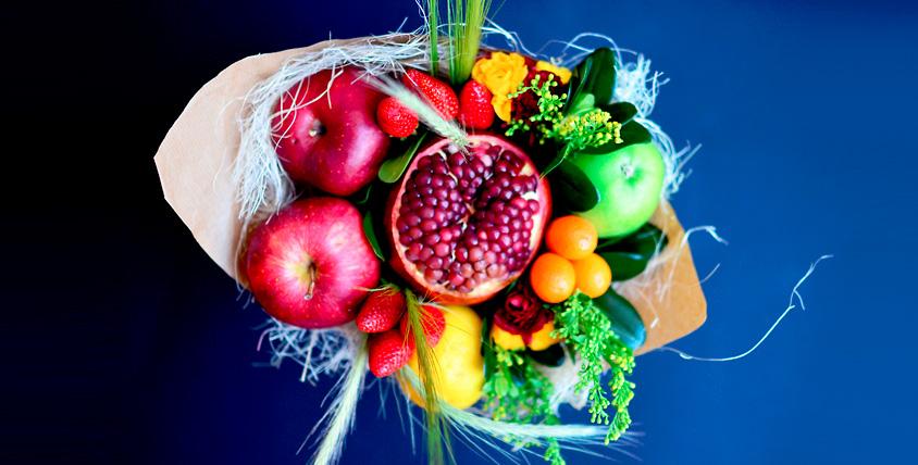 """Букет из овощей или фруктов (на выбор победителя) стоимостью 2000 руб. от цветочной лавки """"Лавандыш"""""""