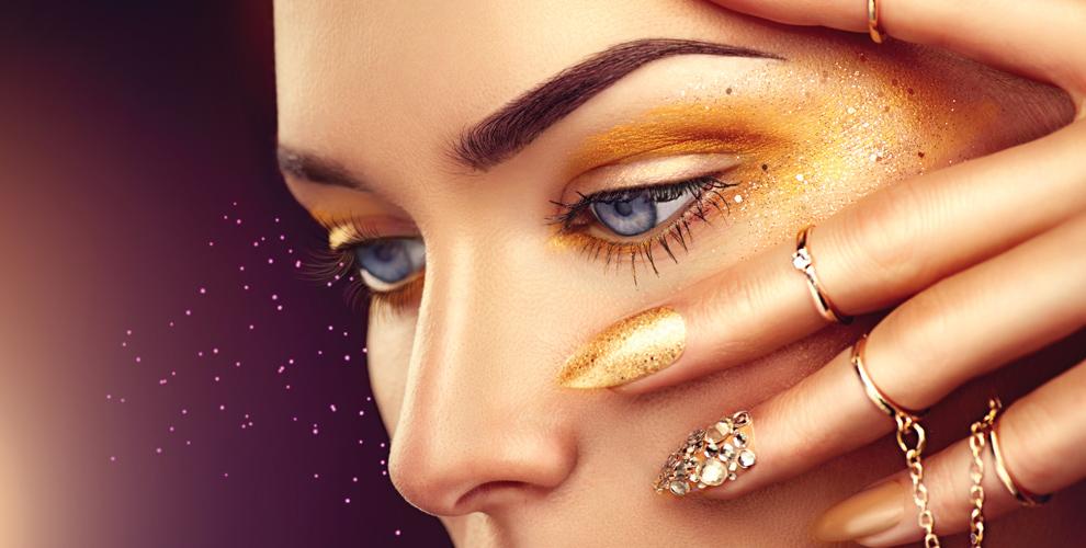 Коррекция иокрашивание бровей, макияж встудии красоты DryBarБигуди