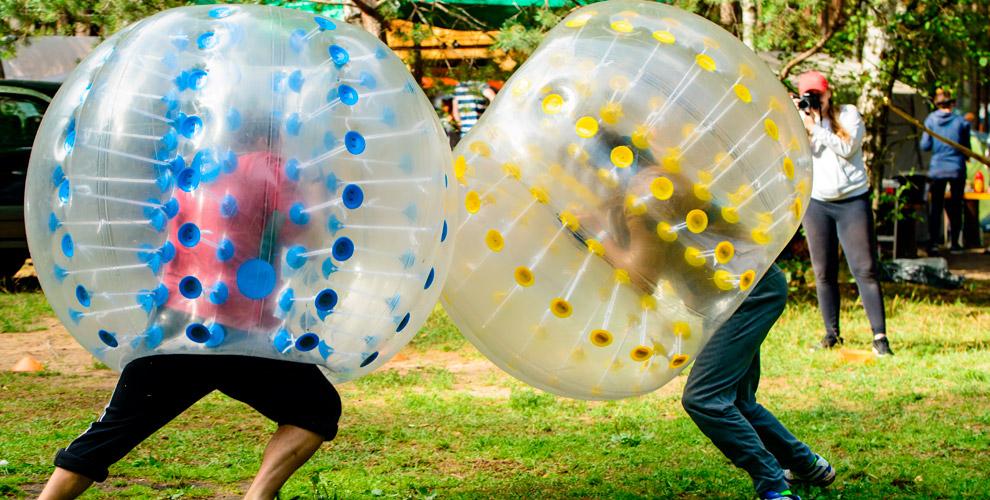 Выездная игра вбампербол итимбилдинг дляколлектива откомпании CRAZY BUBBLE