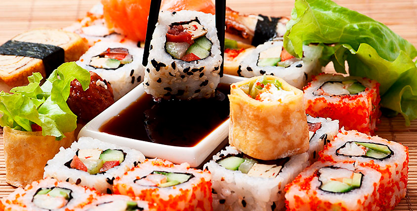 """Всё меню роллов, суши и суши-сетовот от службы доставки """"Икура 96"""""""