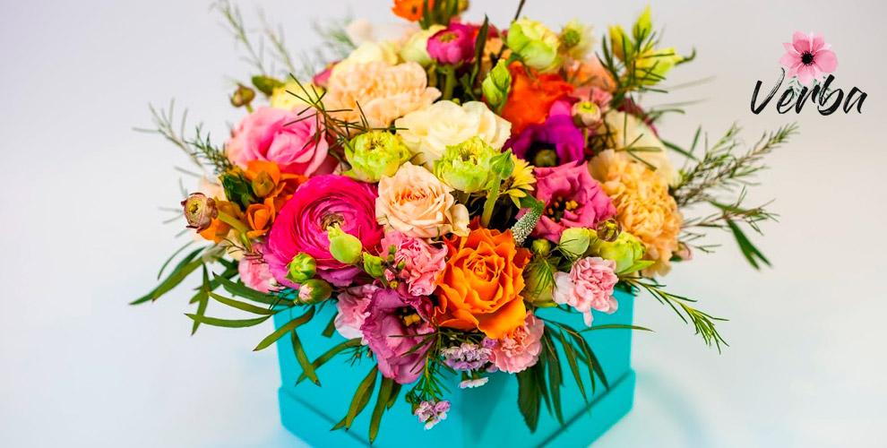 Разнообразные букеты и композиции из цветов от мастерской VERBA