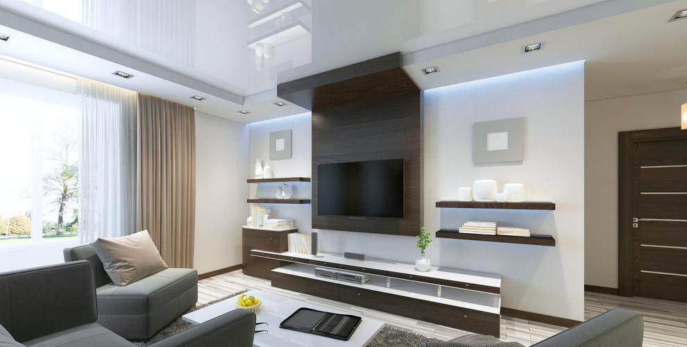 Изготовление и монтаж белого или цветного натяжного потолка от компании Magnat