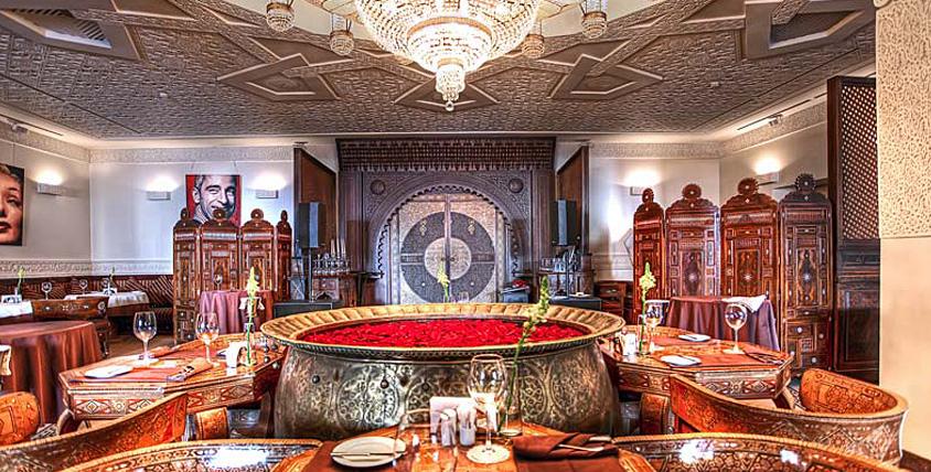 """Ощутите себя во дворце восточного султана и насладитесь блюдами традиционной арабской кухни в ресторане """"Дамас"""""""