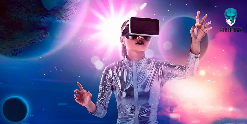 Игры в шлеме виртуальной реальности в клубе Kiber Day