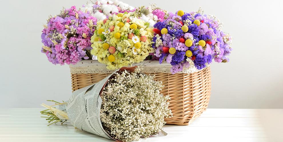 Композиции из сухоцветов от компании Enjoy the flowers