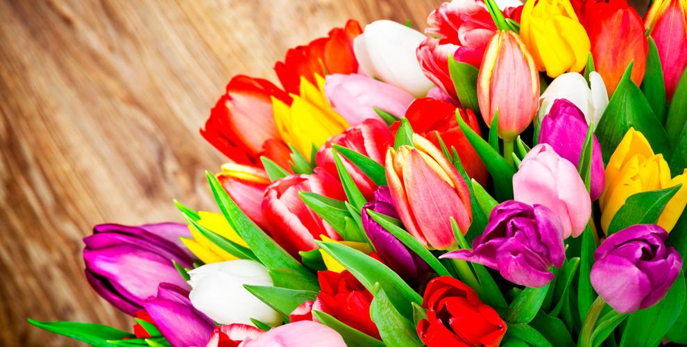 Букеты из тюльпанов от компании «8 марта»