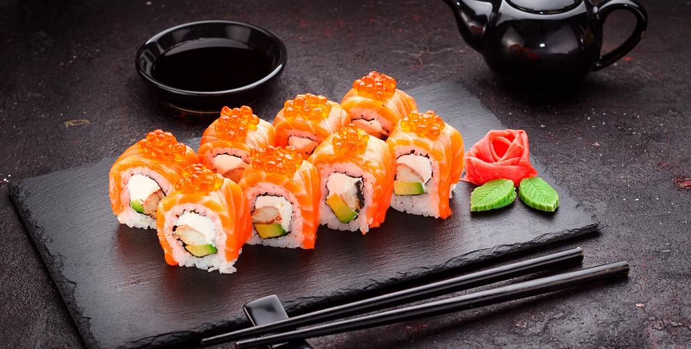 Sushi-Roll market: меню холодных игорячих роллов, салатов