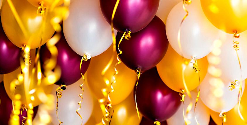 Гелиевые и фольгированные шары, композиции от агентства Sunny Day