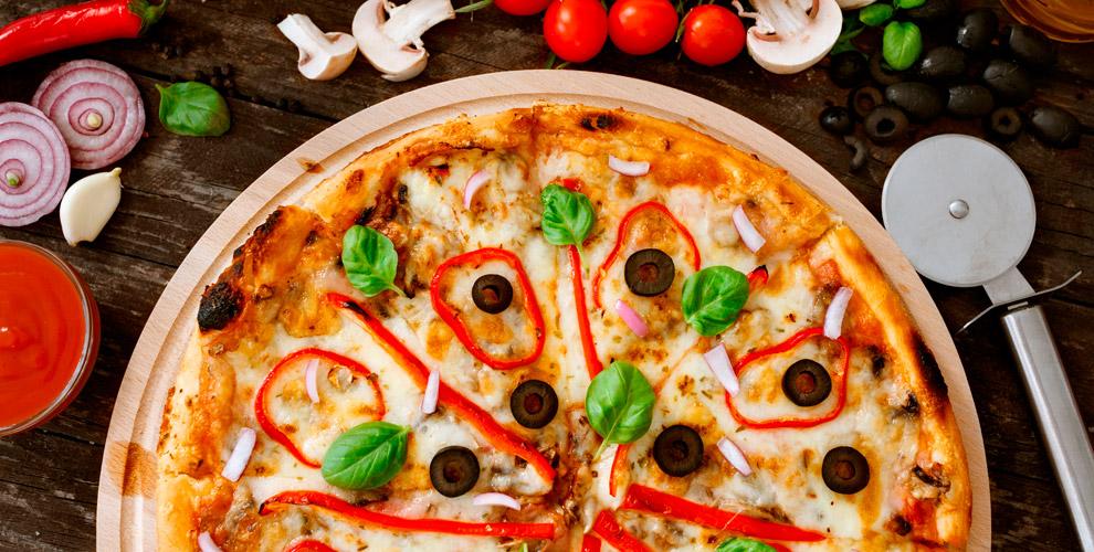 Меню пиццы изакусок отслужбы доставки «Слайс пицца»