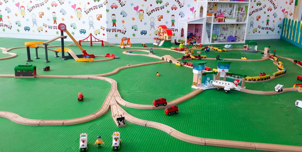 Посещение детской игровой комнаты «ПАРОВОЗОФФ»