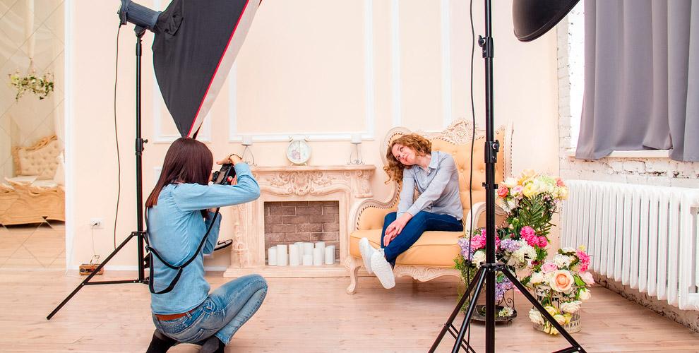 Студийная интерьерная и индивидуальная фотосессия «под ключ» в Beauty center