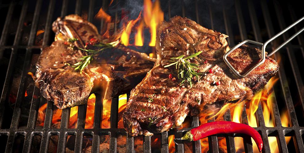 «Мясоед»: Шашлык, стейки, бургеры, салаты и гарниры