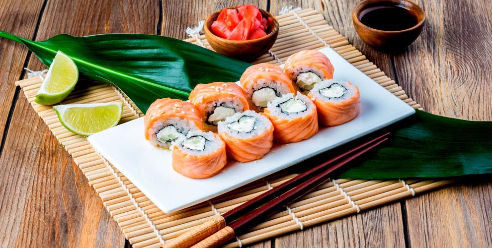 Роллы, теплые роллы и суши в сети кафе «ВАБИ САБИ»