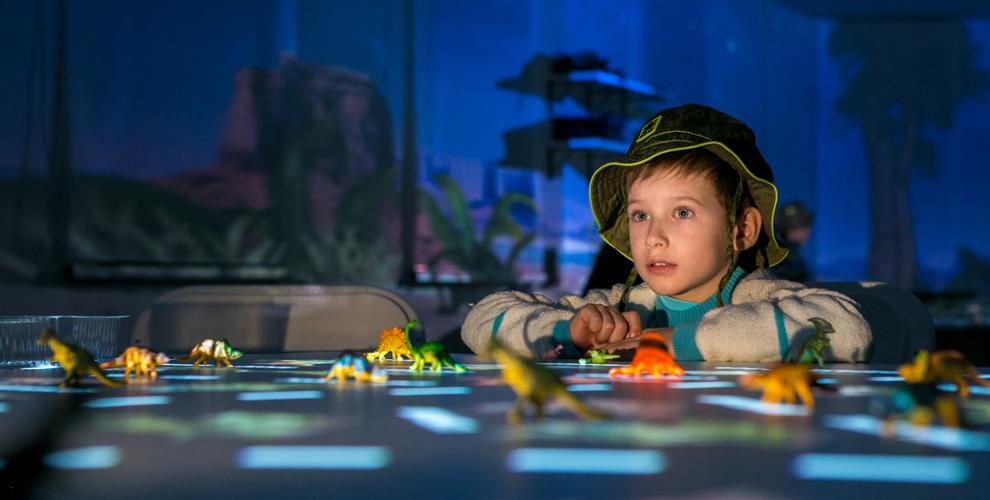 Шоу-занятие о детстве Земли в мультимедийном шоу-руме «Прознание»