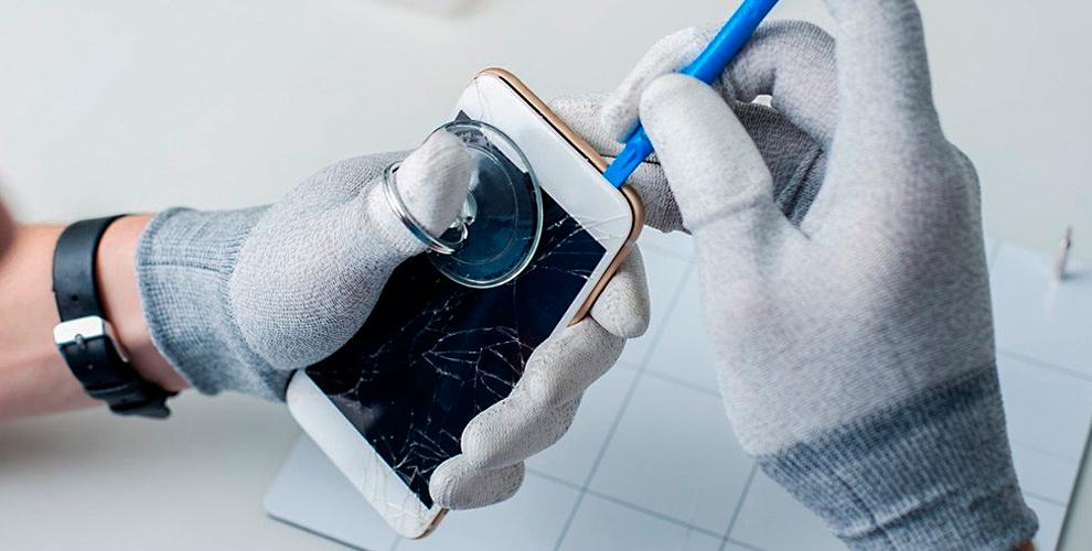 """Бесплатное наклеивание защитного стекла, замена дисплея для iPhone в центре """"Маффин"""""""