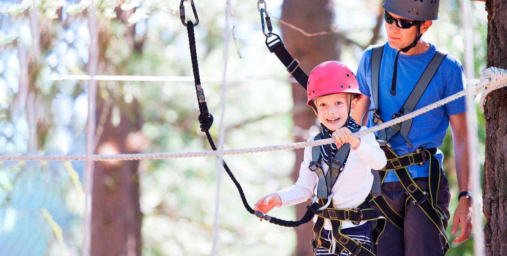 Посещение веревочного парка «Гамми парк» для взрослых и детей
