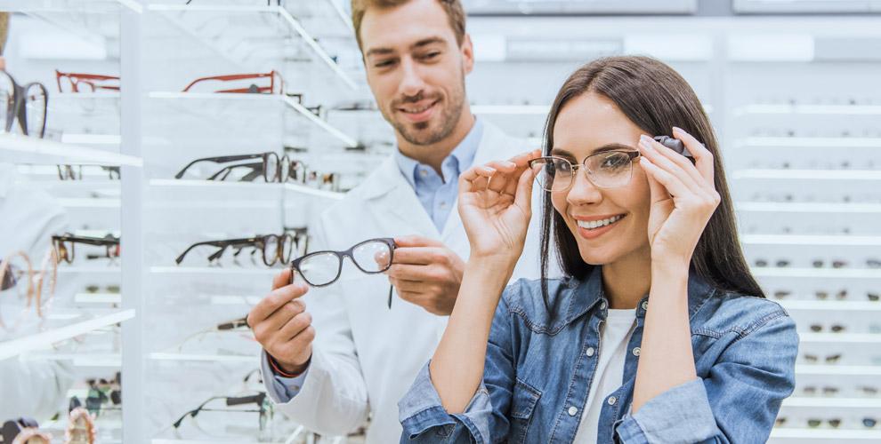 Медицинские оправы, солнцезащитные очки иокрашивание линз всалоне «Оптика 100%»