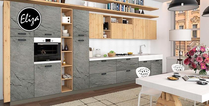 Кухонные гарнитуры по индивидуальным размерам от мебельной фабрики Eliza
