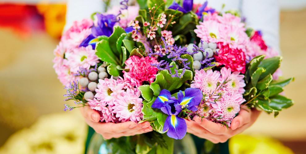 Букеты икомпозиции изцветов, свадебные аксессуары отдоставки Kaktus-Flo