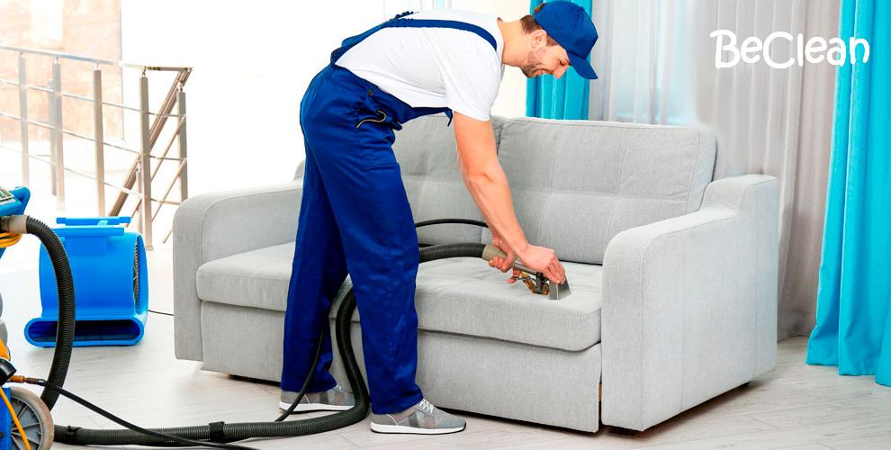 Химчистка мягкой мебели, ковров, матрасов отклининговой компании BeClean