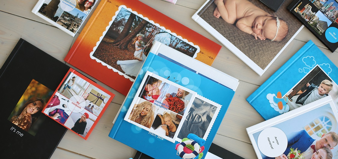Фотокниги Minibook и Printbook в твердом переплете от компании Fotobooka