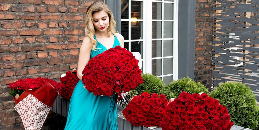 """Розы, лилии, герберы и хризантемы в салоне цветов """"Семицветик"""""""