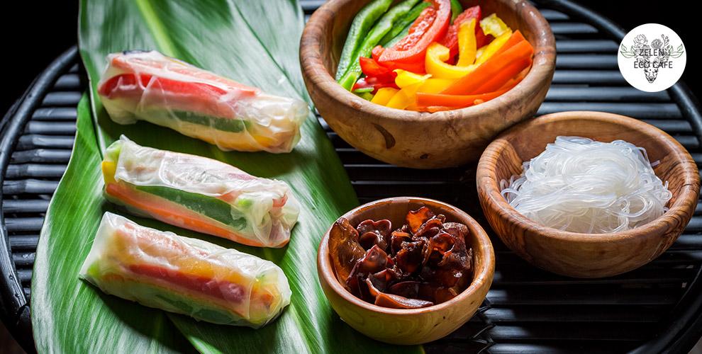 Проведение банкета, меню кухни и напитки в ресторане вьетнамской кухни Zelen Eco Cafe