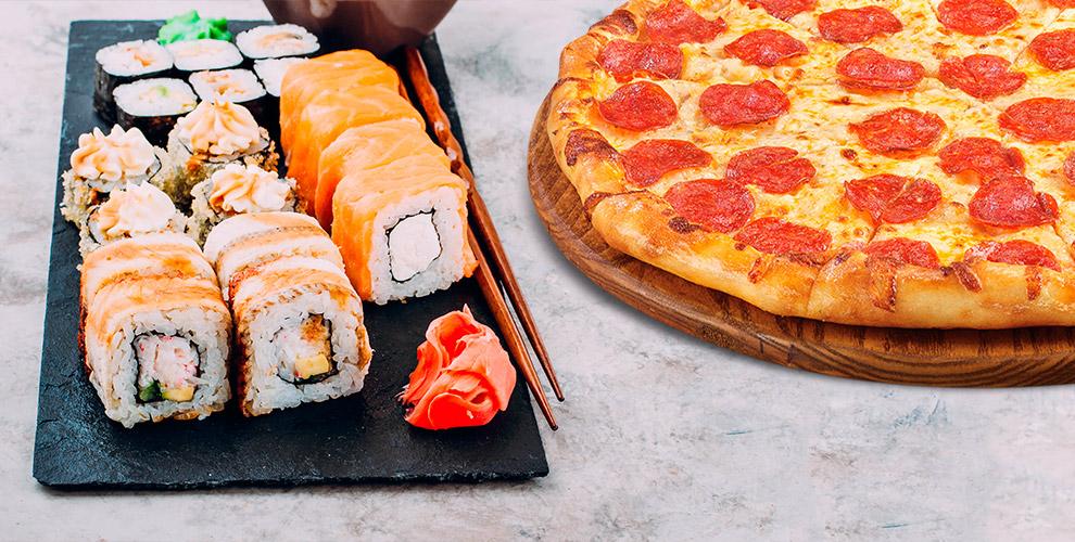 Аппетитные блюда японской и европейской кухни в Cafe «Золотая Подкова»