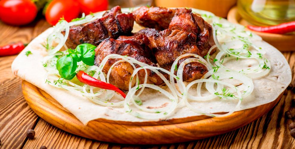 Готовый шашлык, люля-кебаб имаринованное мясовшашлычной «Тритополя»