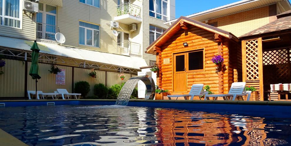 Проживание вномерах ипосещение сауны вотеле Grand Villa вКраснодарском крае