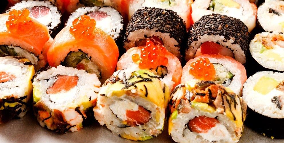 Все меню японской кухни и осетинских пирогов от службы доставки Sushi - party.ru