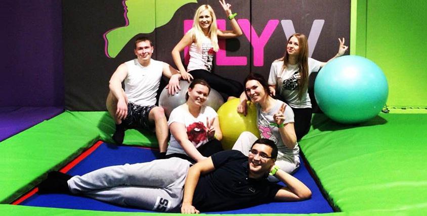 Занятия для детей и взрослых в батутном центре FlyV