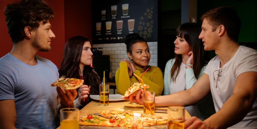Меню пиццы, супов и салатов в караоке-баре «Арамина»