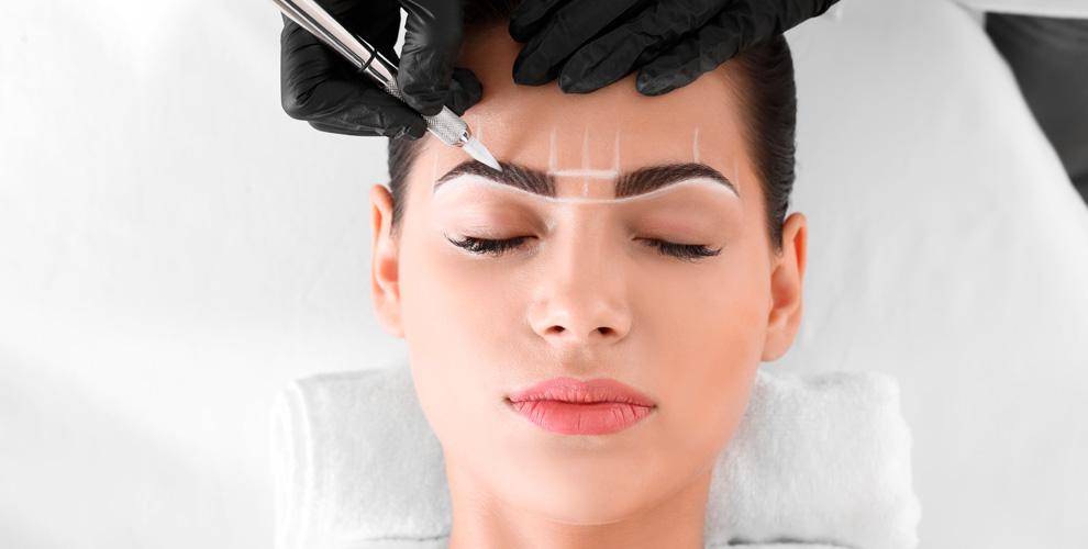 Перманентный макияж бровей, векигубвстудии красоты «Мария»