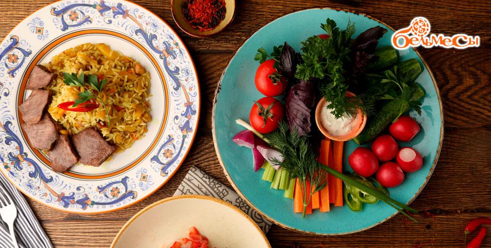 Обед в ресторане «Бельмесы»: плов, манты и другое