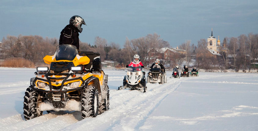 """Прогулки на снегоходах и квадроциклах от компании """"Снегоходов"""""""